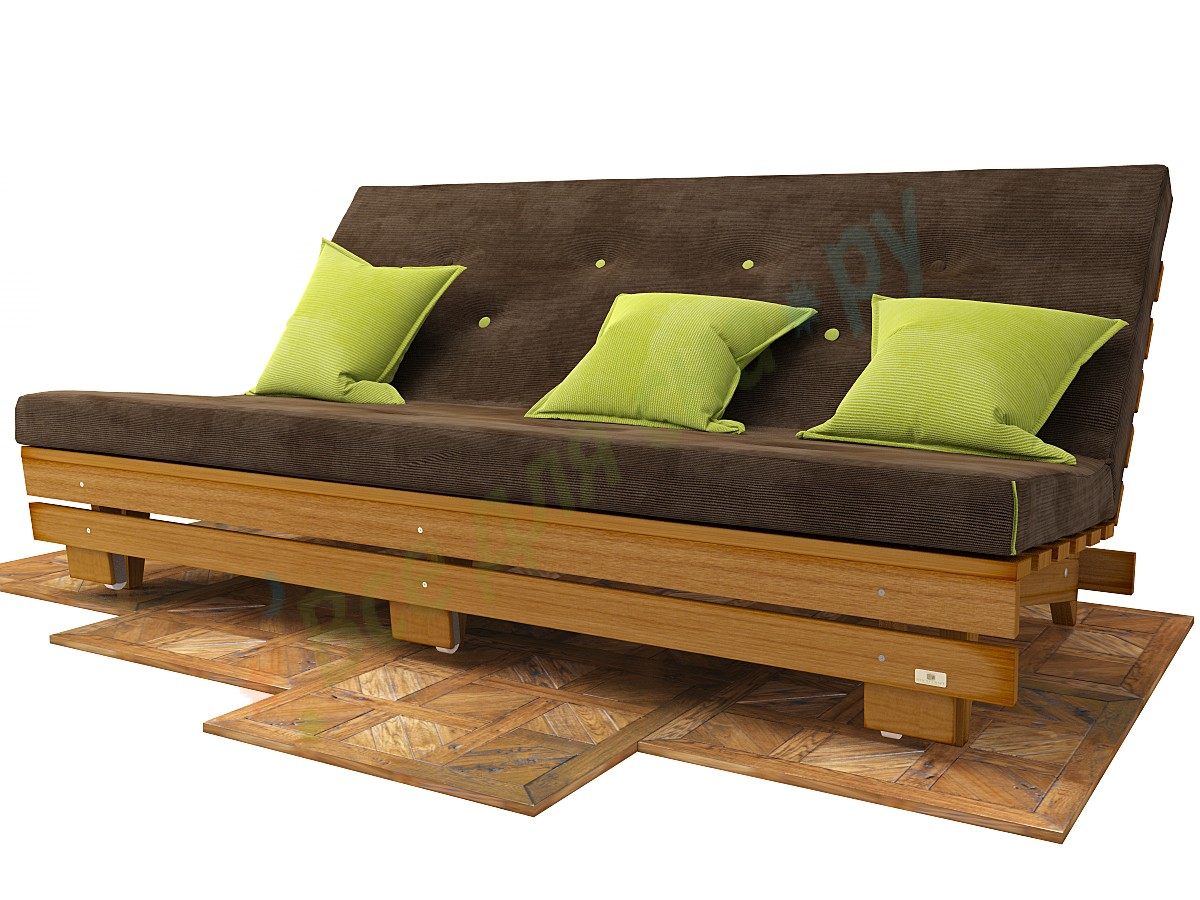 Диван деревянный раскладной